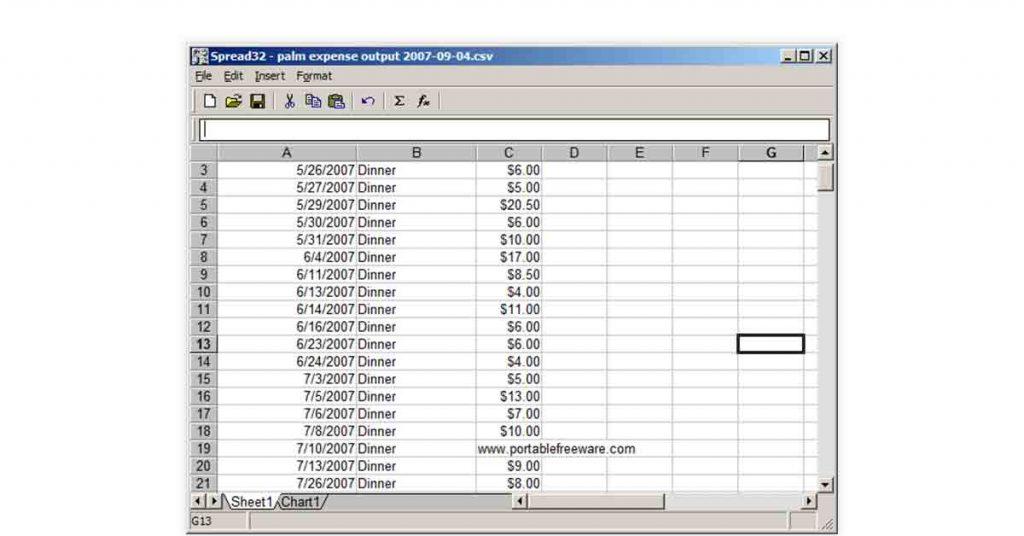 Spread32 Free Excel alternative