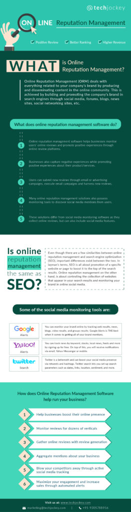 Online Reputation Management infograph